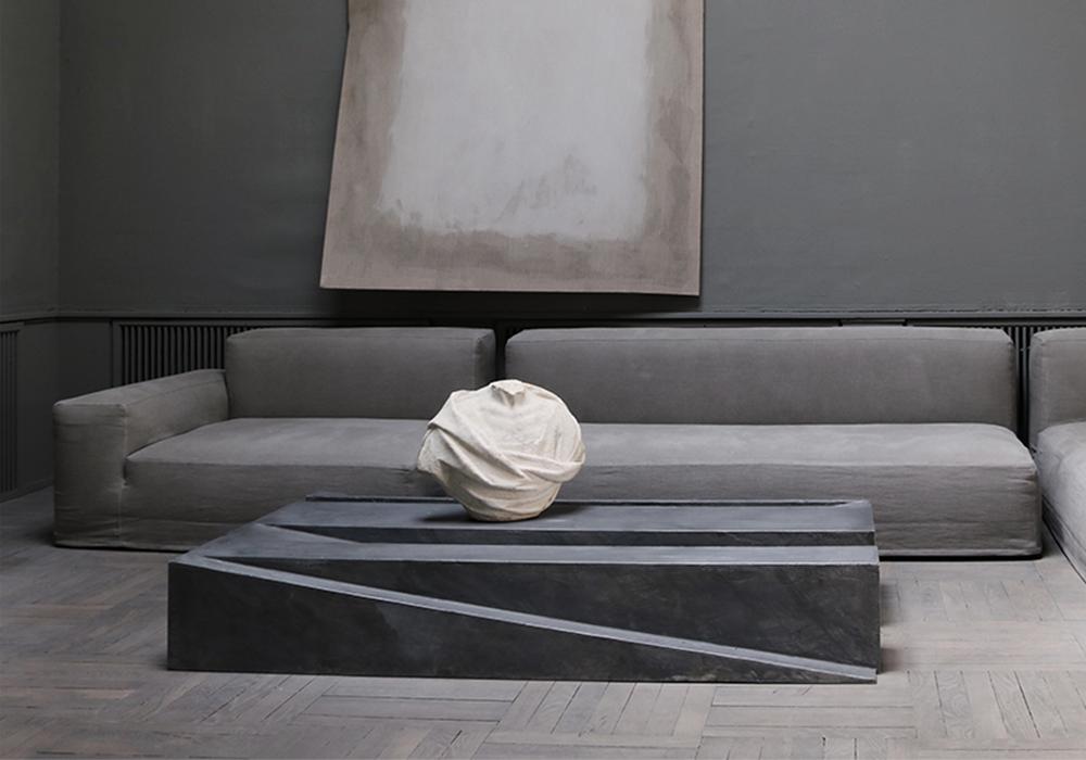Jan Janssen coffee table in aluminium Studio Oliver Gustav