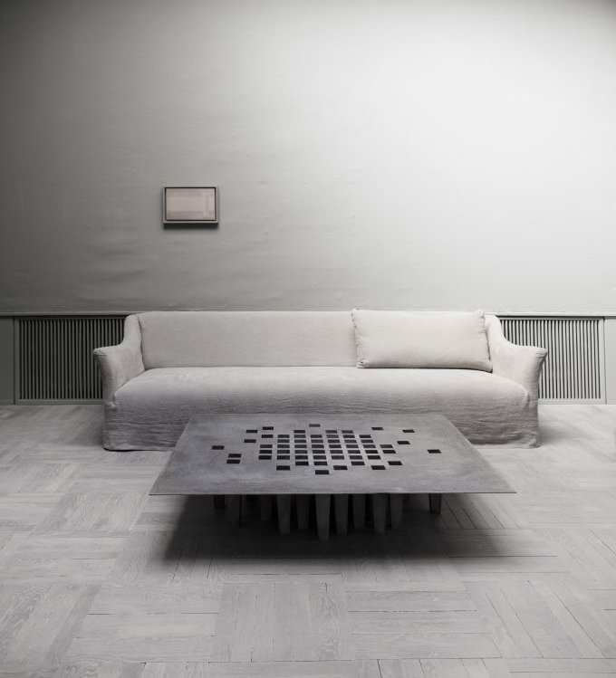 Jan Janssen aluminium table Studio Oliver Gustav