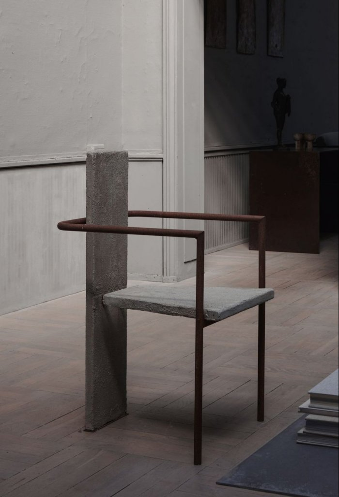 The iconic concrete chair by Jonas bohlin