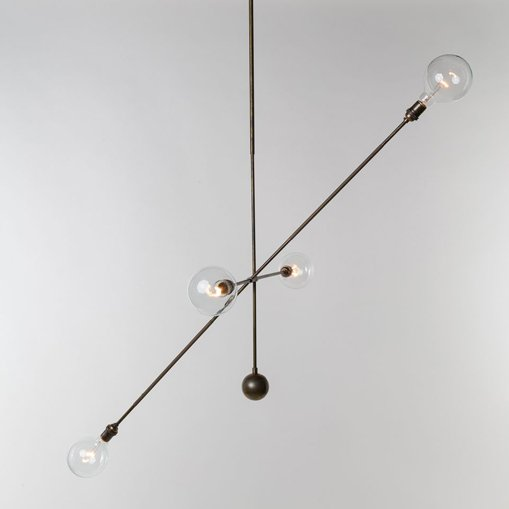 Highwire Large by Apparatus. Sculptural lamps and lighting. Hanging lamps, sconces, ceiling fixtures in brass, glass, bronze and more.