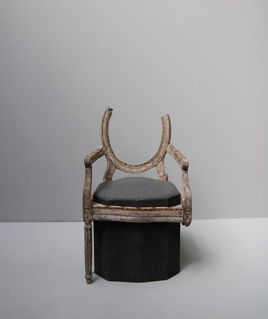 James plumb concrete chair