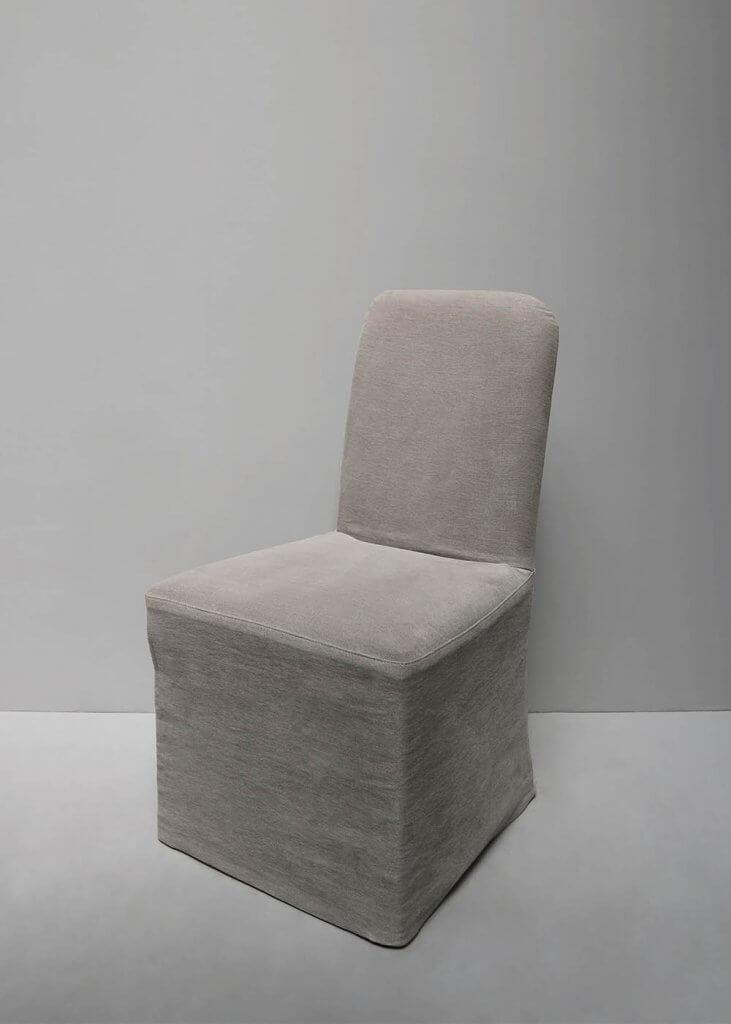 Dining chair in hemp or linen upholstry by oliver gustav.