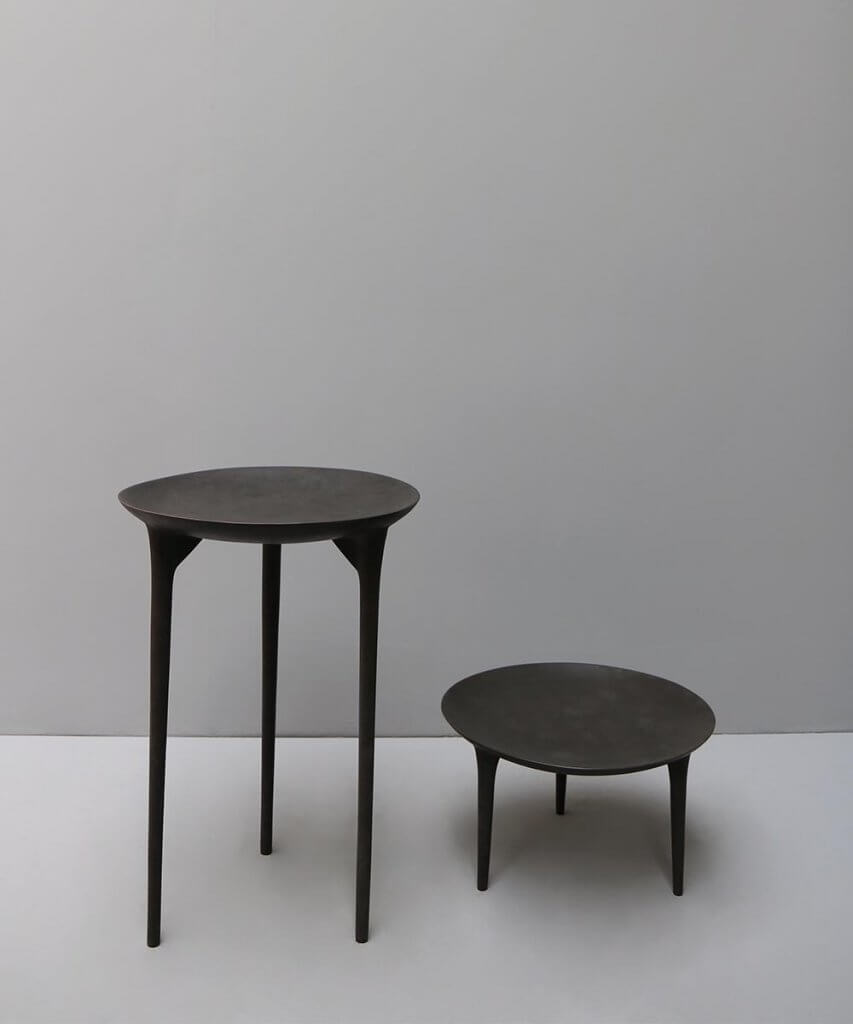 Rick owens brazier side table in bronze at Studio Oliver Gustav