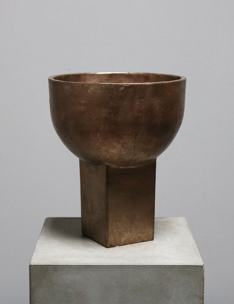 Sacra Vase in raw bronze by the danish designer Sofie Østerby represented by Studio Oliver Gustav