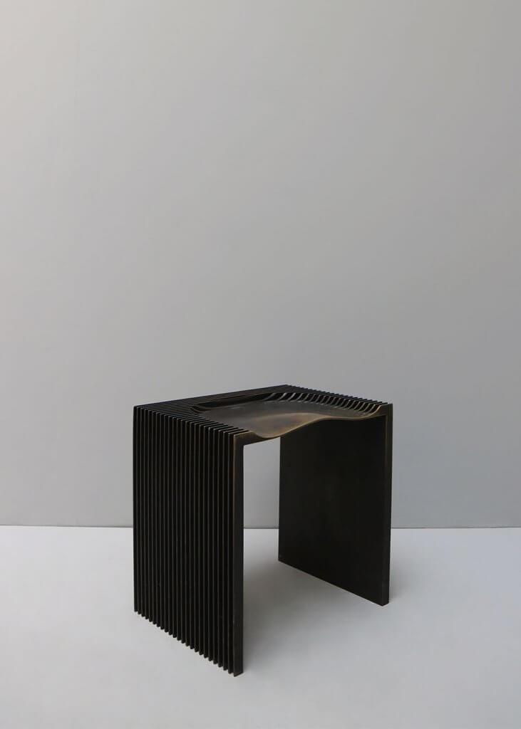 Stool in iron made by designer Jan Janssen