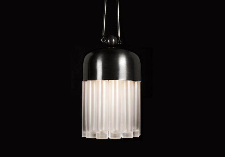 Tassel 19 by Apparatus. Sculptural lamps and lighting. Hanging lamps, sconces, ceiling fixtures in brass, glass, bronze and more.