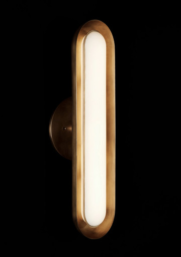 Circuit 1 Sconce by Apparatus. Sculptural lamps and lighting. Hanging lamps, sconces, ceiling fixtures in brass, glass, bronze and more.