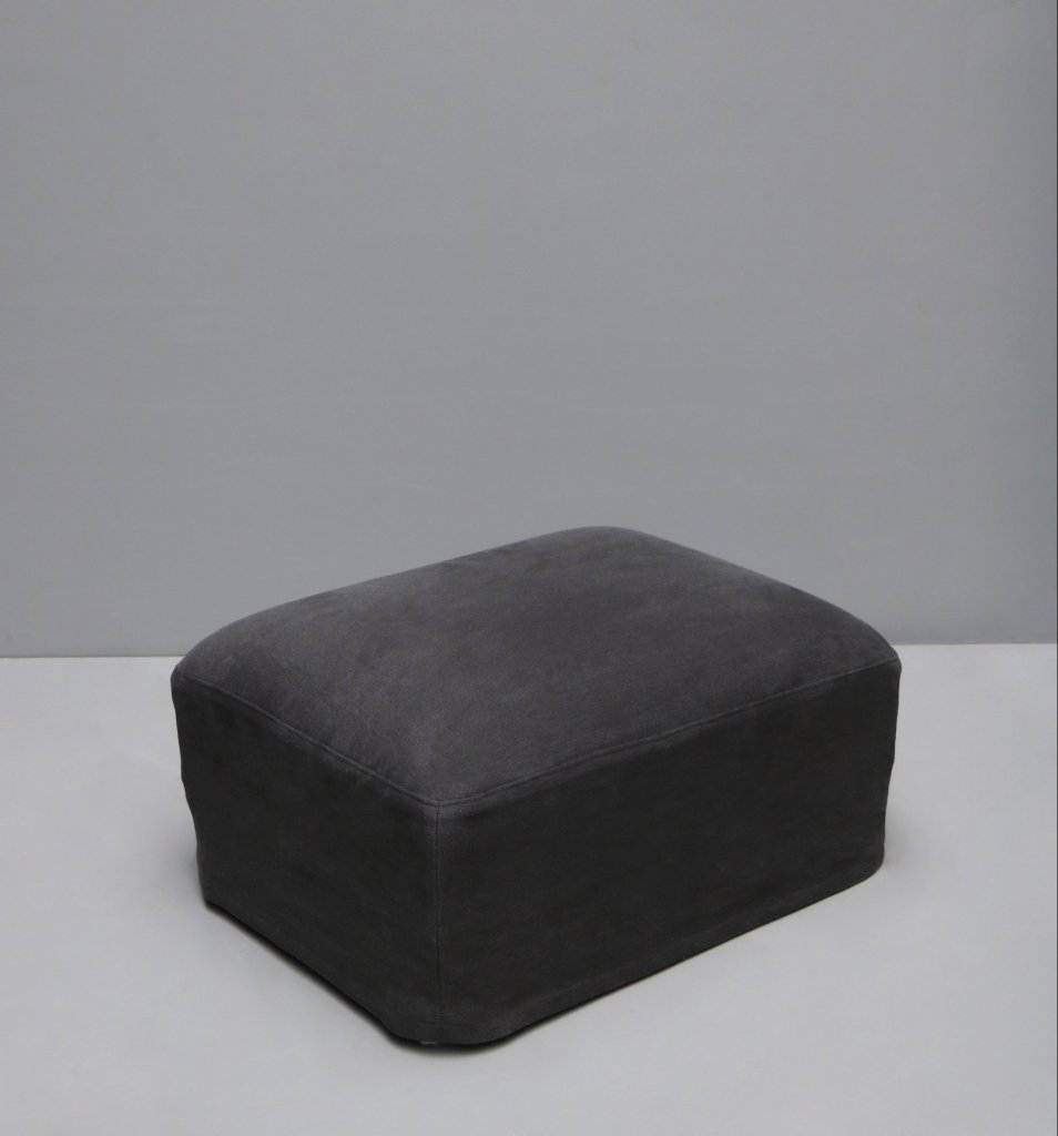 Pouf in linen or hemp upholstery by danish designer Oliver Gustav. Linen hemp upholstery from Studio Oliver Gustav Furniture.