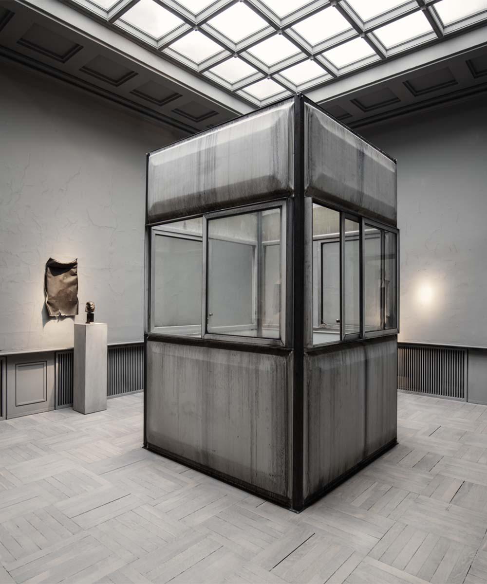 Jean Prouve pavilion art installation at Studio Oliver Gustav