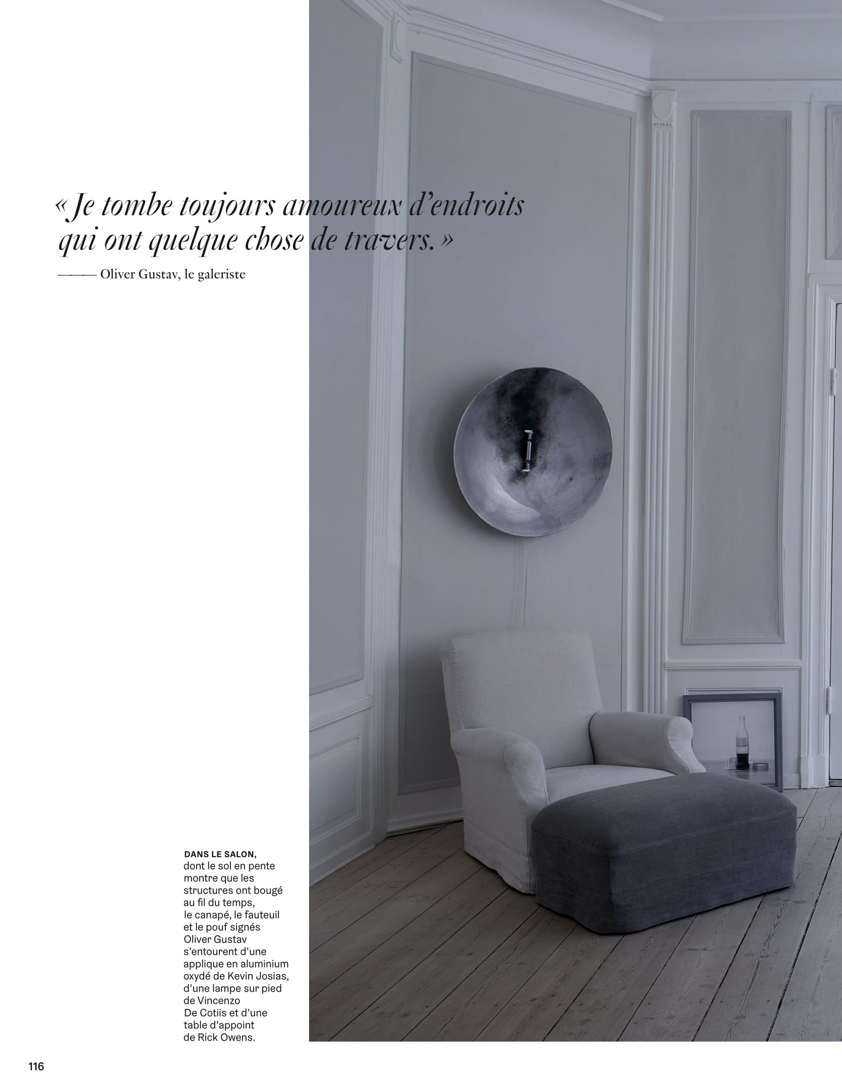 architectural digest France interview with danish designer Oliver Gustav