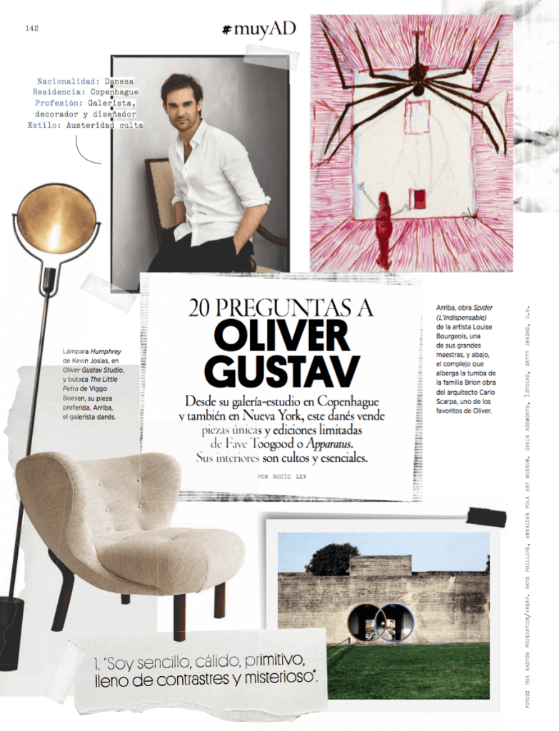 architectural digest spain interview with danish designerstudio Oliver Gustav