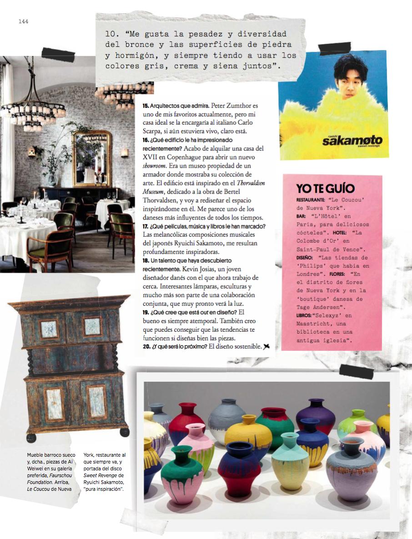 architectural digest spain interview with danish designerstudio Oliver Gustav