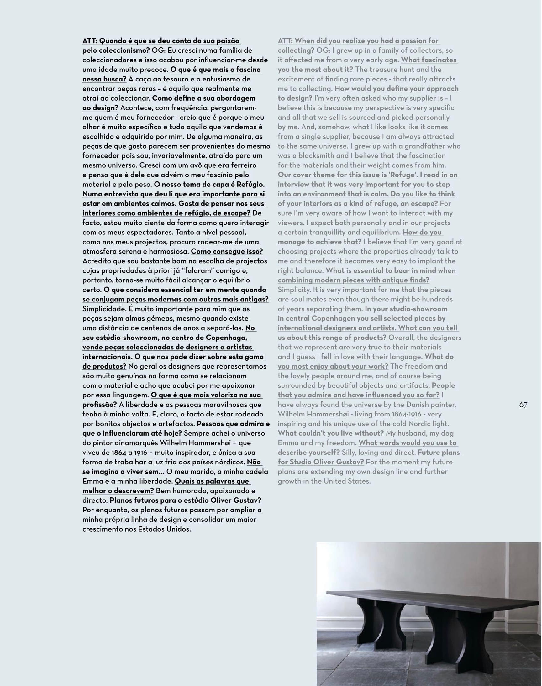 Attitude Magazine Studio Oliver Gustav