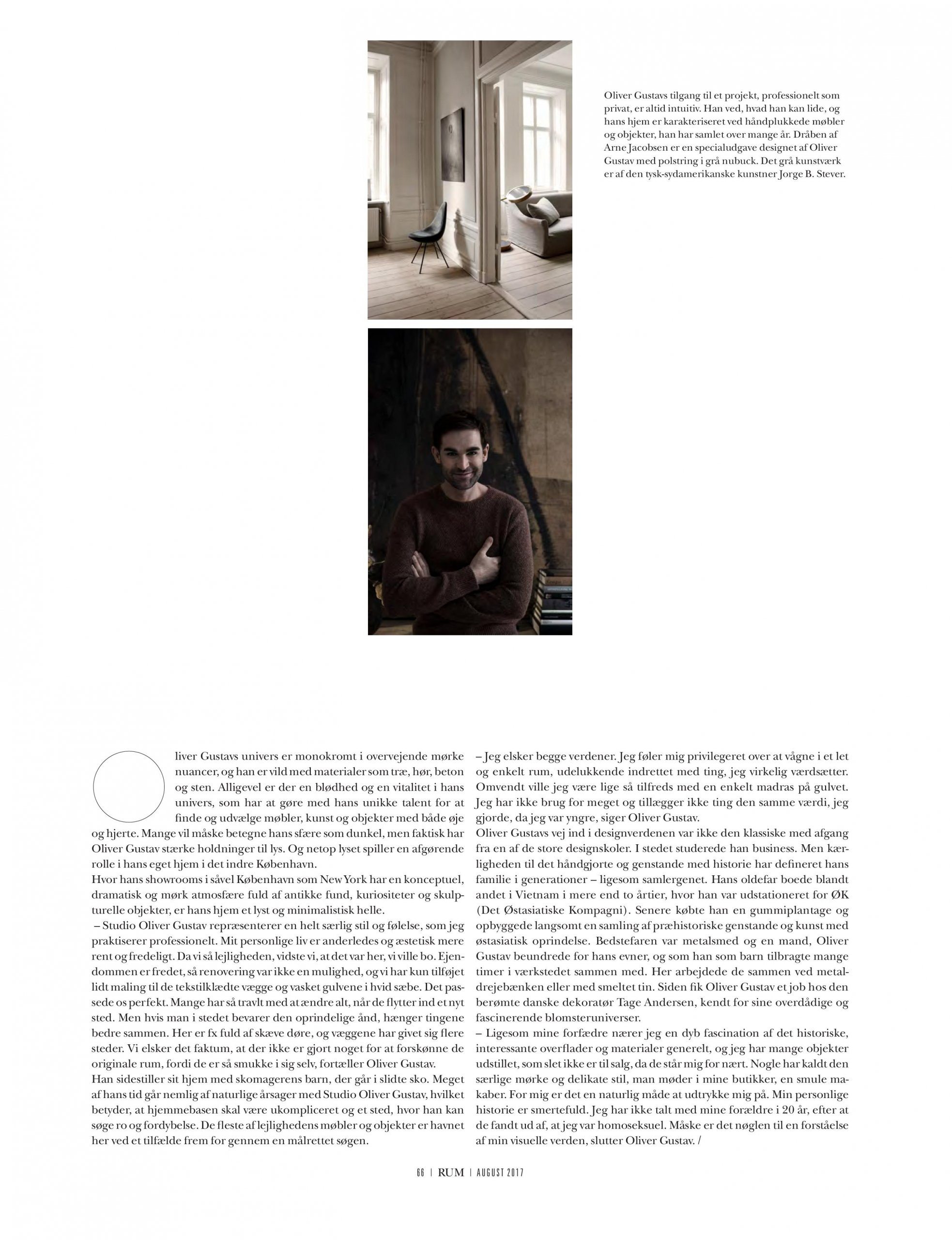 Interview in RUM magazine with studio Oliver Gustav