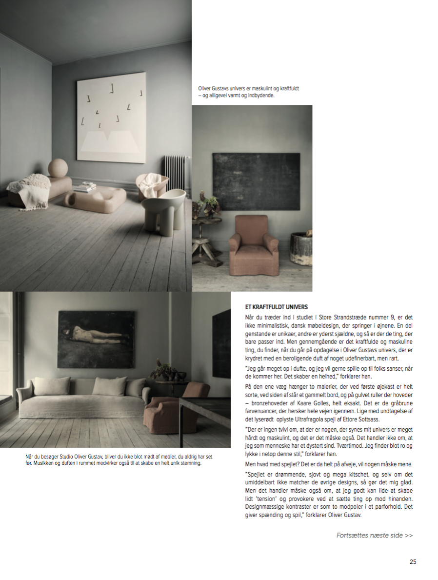 Tendens Bolig magazine interview article with Oliver Gustav