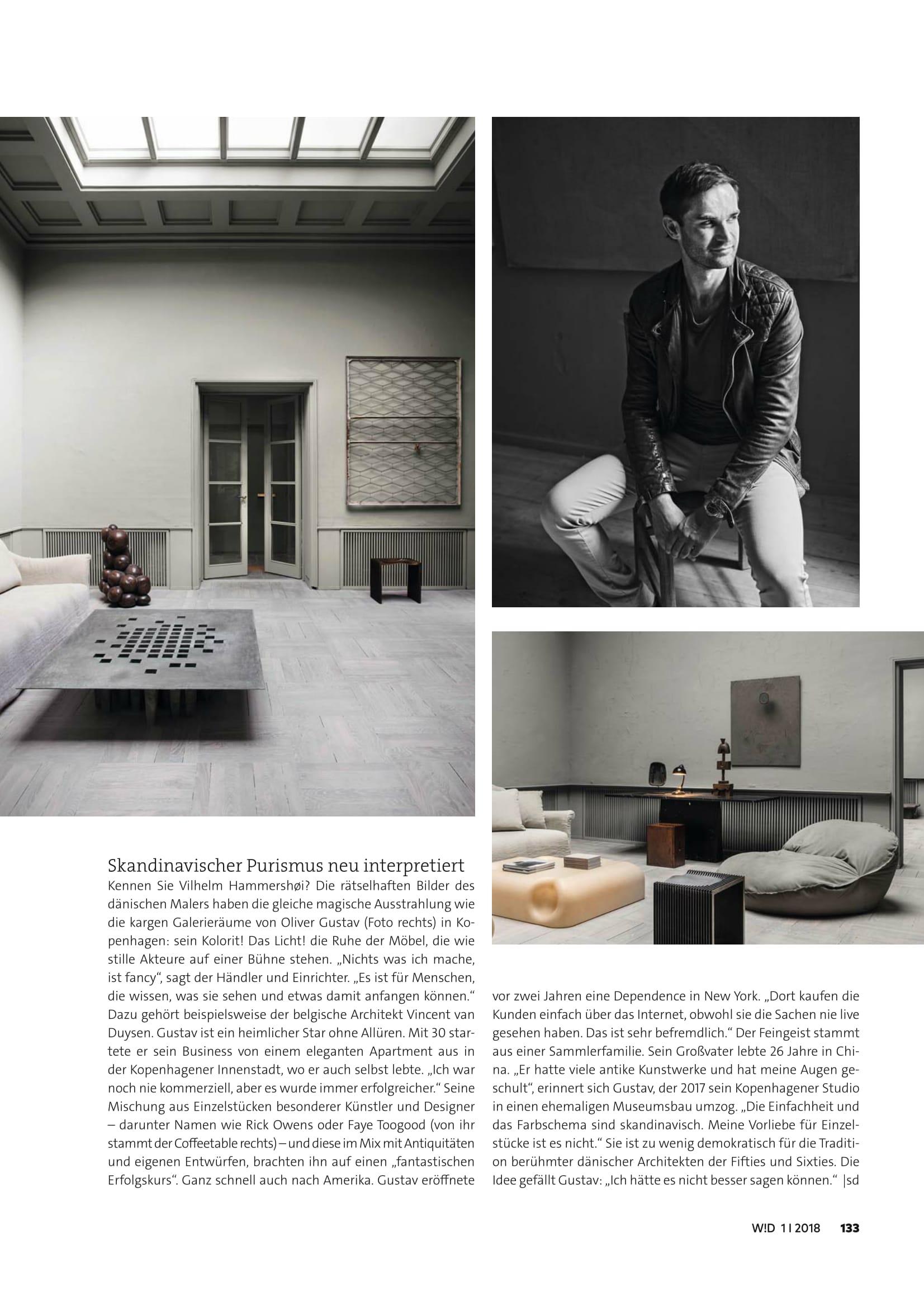 Wohn! design magazine interview about Studio Oliver Gustav