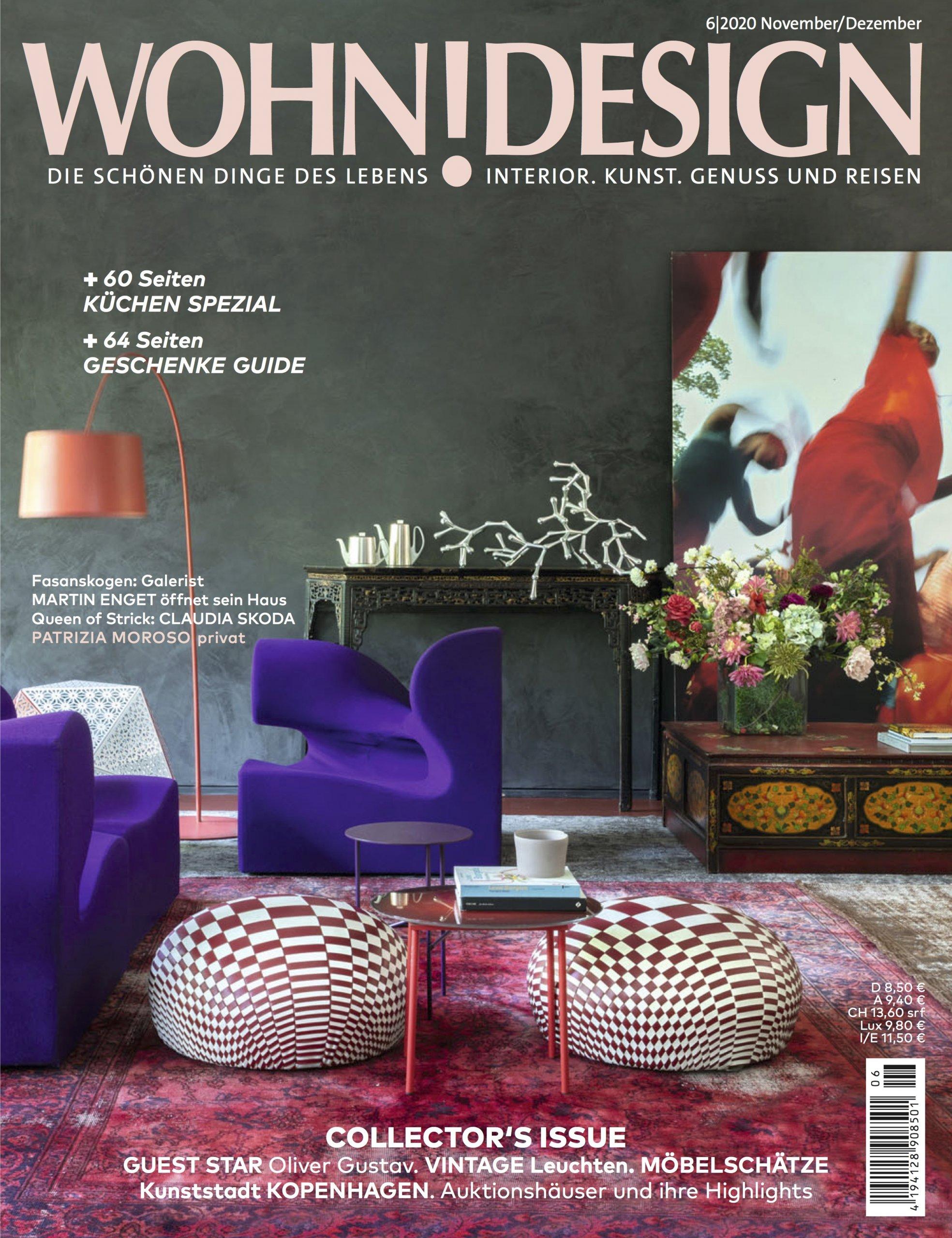 Wohn! Design magazine article studio Oliver Gustav