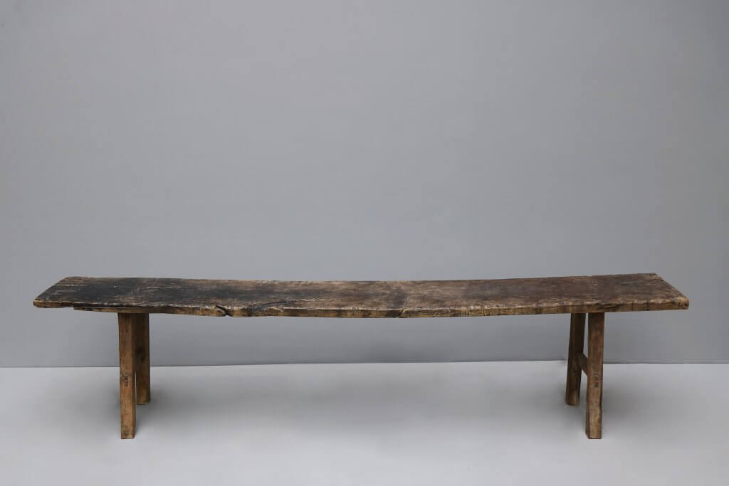 Antique bench from asia
