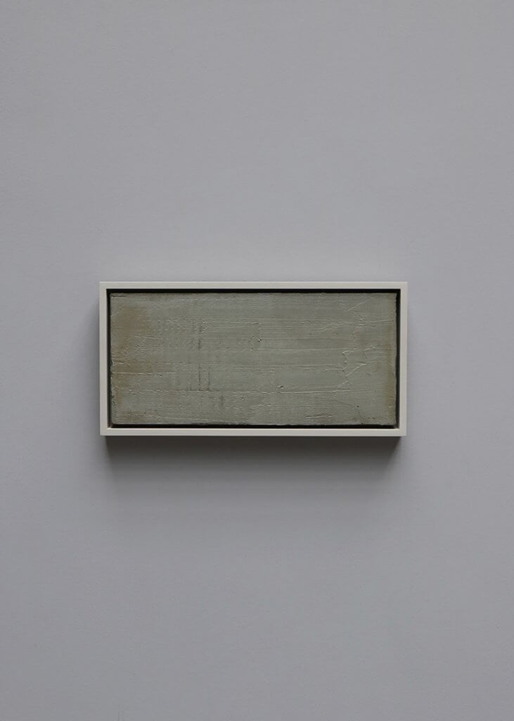 Art work in mixed media concrete on canvas by the italian Artist Enzo Cacciola