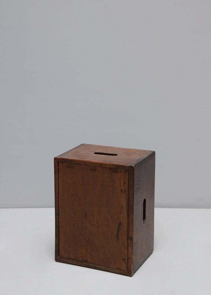 Wooden stool at Studio Oliver Gustav