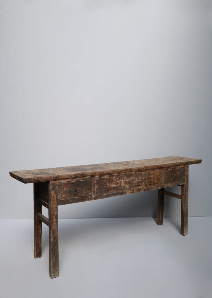 Antique Chinese console table with drawers
