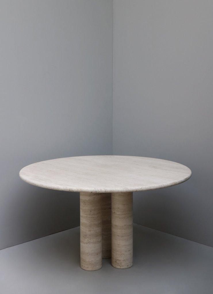 Travertine dining table