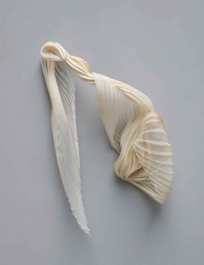 Aart work made in silk by the danish artist ursula nistrup and lotte hendriksen