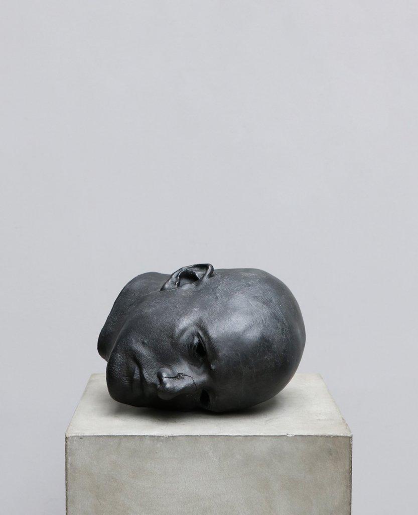 Bronze head sculpture by the danish artist Kaare Golles